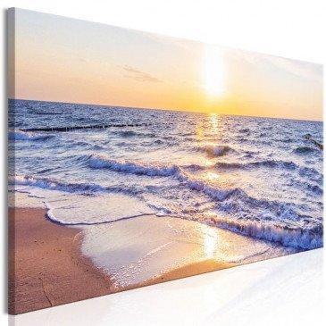 Tableau Calm Waves (1 Part) Narrow Brown  | cosy-home-design.fr