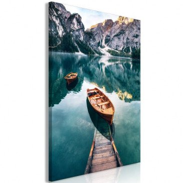Tableau Boats In Dolomites (1 Part) Vertical  | cosy-home-design.fr