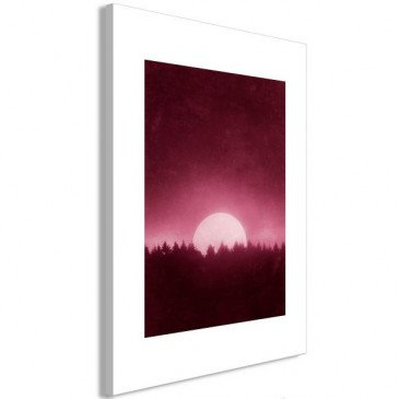 Tableau Full Moon (1 Part) Vertical  | cosy-home-design.fr