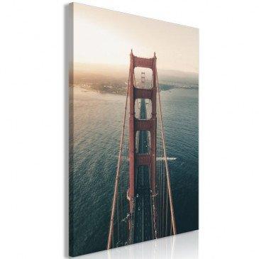 Tableau Golden Gate Bridge (1 Part) Vertical  | cosy-home-design.fr