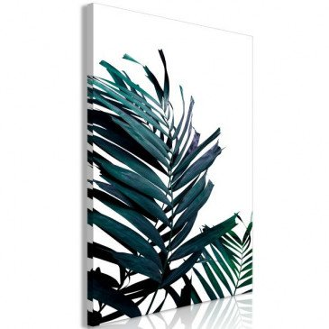 Tableau Emerald Leaves (1 Part) Wide  | cosy-home-design.fr