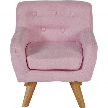 Fauteuil Enfant Bois et Tissu Rose Ormond    cosy-home-design.fr