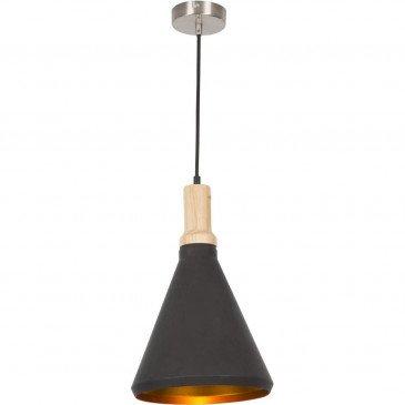 Suspension Métal Noir Camber  | cosy-home-design.fr
