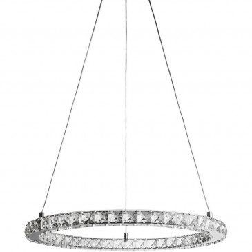 Suspension Ronde LED Strass Argent Rondo  | cosy-home-design.fr