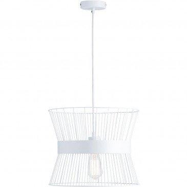 Suspension Blanche Cage  | cosy-home-design.fr