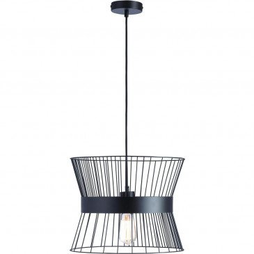 Suspension Noire Cage  | cosy-home-design.fr
