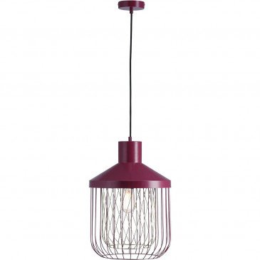 Suspension Rouge Cage  | cosy-home-design.fr