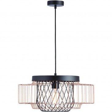 Suspension Noire et Cuivre Cage  | cosy-home-design.fr