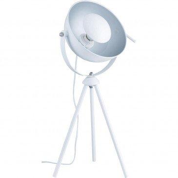Lampe Métal Blanc et Argent Chicago  | cosy-home-design.fr