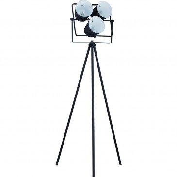 Lampadaire 3 Projecteurs Métal Noir Asare  | cosy-home-design.fr