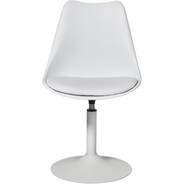 Chaise Métal et Plastique Dur Blanc Steevy - Lot de 2  | cosy-home-design.fr