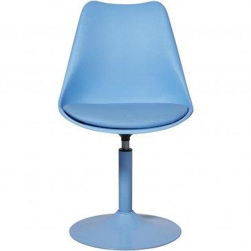 Chaise Métal et Plastique Dur Bleu Steevy - Lot de 2  | cosy-home-design.fr