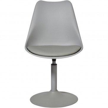 Chaise Métal et Plastique Dur Gris Steevy - Lot de 2  | cosy-home-design.fr