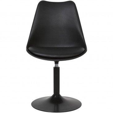 Chaise Métal et Plastique Dur Noir Steevy - Lot de 2  | cosy-home-design.fr