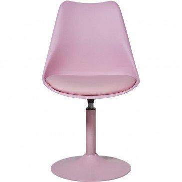 Chaise Métal et Plastique Dur Rose Steevy - Lot de 2  | cosy-home-design.fr