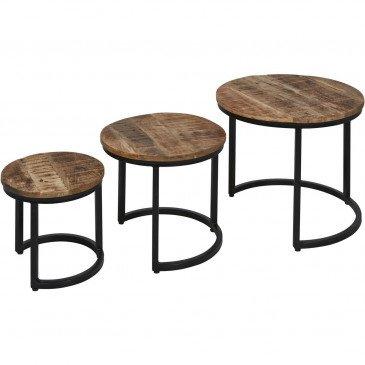 Table d'Appoint Métal Noir Bangalo  | cosy-home-design.fr