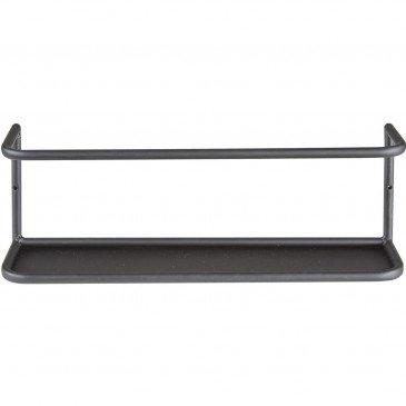 Étagère 1 Tablette Métal Noir Bari  | cosy-home-design.fr