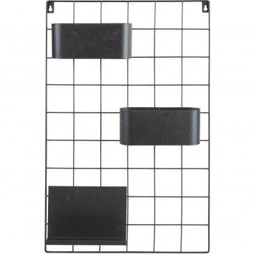 Étagère 1 Tablette Métal Noir Catane  | cosy-home-design.fr