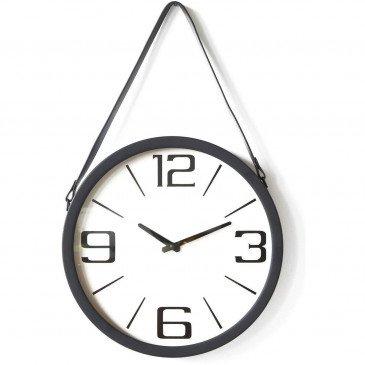 Horloge Métal et Plastique Noir Borris  | cosy-home-design.fr