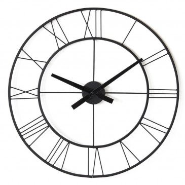 Horloge Métal Noir Charles  | cosy-home-design.fr
