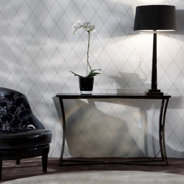 Console noire marbre et inox Texas 120    www.cosy-home-design.fr