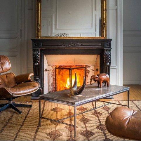 Table basse marbre et inox Esmeralda  | www.cosy-home-design.fr