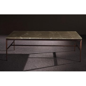 Table basse marbre et inox Esmeralda  | www.cosy-home-design.fr
