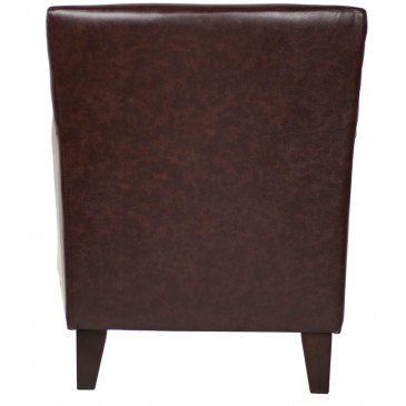 Fauteuil marron cuir Solo  | www.cosy-home-design.fr