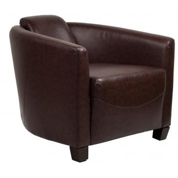 Fauteuil marron cuir Sutton  | www.cosy-home-design.fr