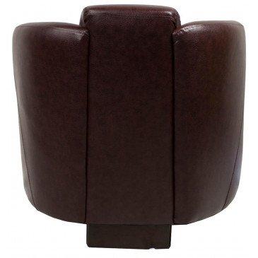 Fauteuil marron cuir Sutton  | www.cosy-home-design.fr