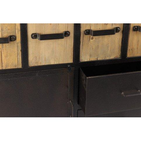 Buffet industriel 6 casiers métal San Diego    www.cosy-home-design.fr