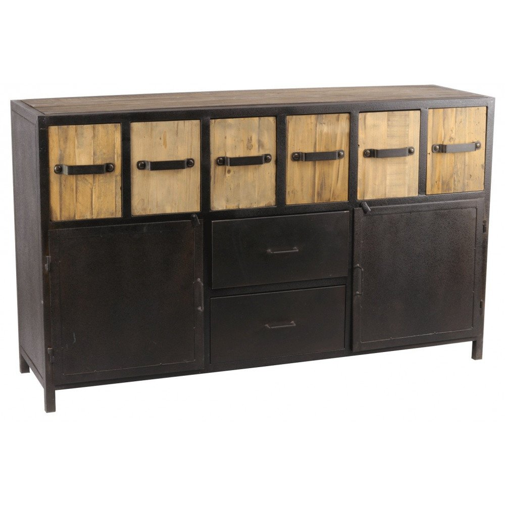 Buffet industriel 6 casiers métal San Diego  | www.cosy-home-design.fr