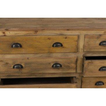 Enfilade Industrielle Sullivan 9 tiroirs | www.cosy-home-design.fr