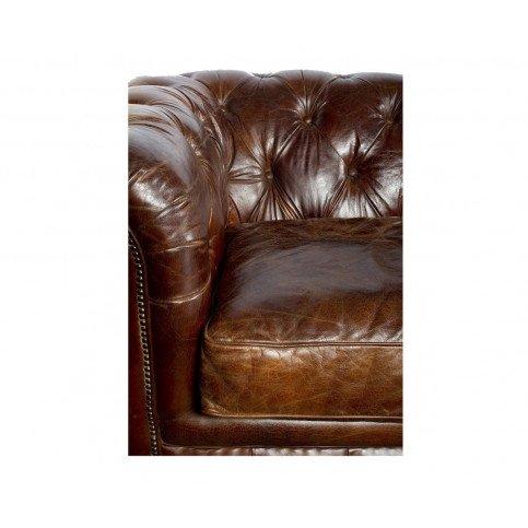 Canapé Marron en cuir 4 places Chesterfield Chicago | www.cosy-home-design.fr