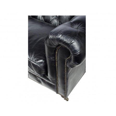 Canapé Noir en cuir 3 places Chesterfield Chicago | www.cosy-home-design.fr