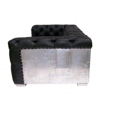 Canapé noir en cuir 3 places Futura   www.cosy-home-design.fr