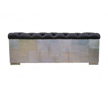 Canapé noir en cuir 3 places Futura | www.cosy-home-design.fr
