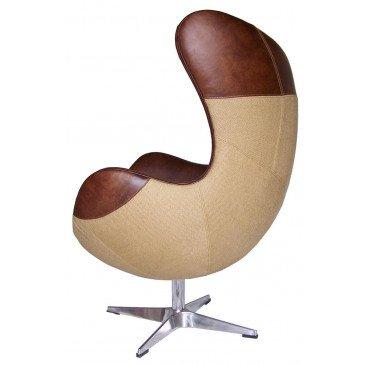 Fauteuil marron cuir Kelly  | www.cosy-home-design.fr
