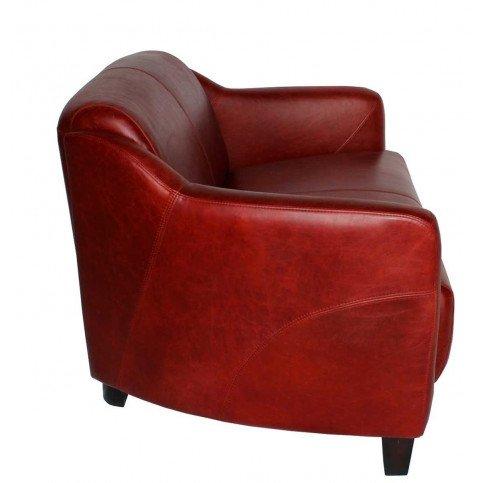 Canapé rouge en cuir 2 places Milord | www.cosy-home-design.fr
