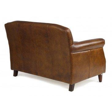Canapé 2 places marron cuir Deauville  | www.cosy-home-design.fr