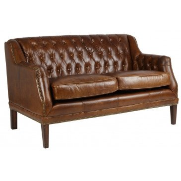 Canapé 2 places en cuir Le Dandy  | www.cosy-home-design.fr