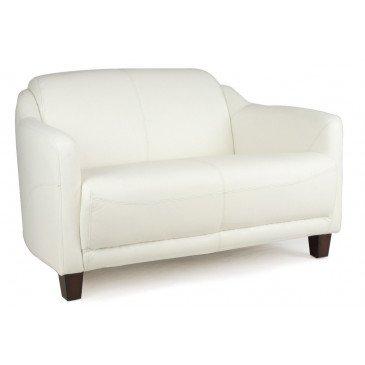 Canapé blanc en cuir 2 places Milord | www.cosy-home-design.fr