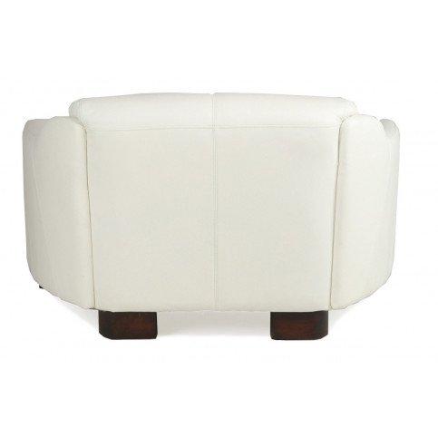 Canapé blanc en cuir 2 places Milord   www.cosy-home-design.fr