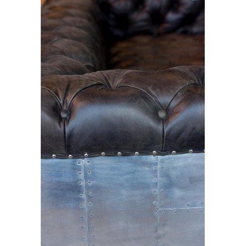 Canapé noir en cuir 4 places Futura | www.cosy-home-design.fr