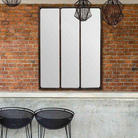 Miroir 3 Bandes Métal Rouillé   www.cosy-home-design.fr