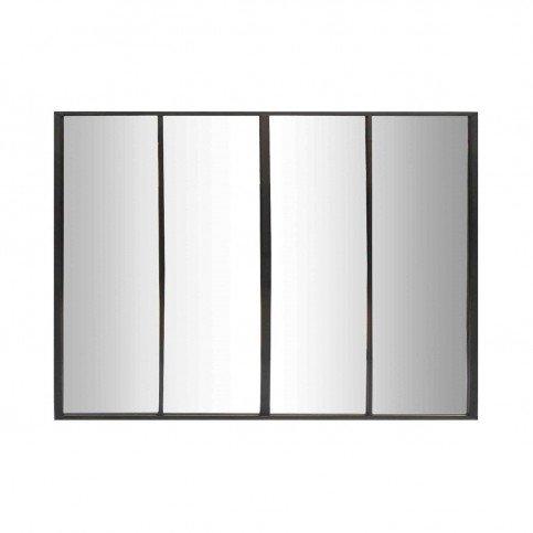 Miroir Frank 4 Bandes Noir | www.cosy-home-design.fr