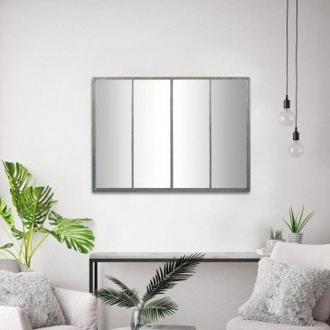Miroir Frank 4 Bandes Zinc | www.cosy-home-design.fr