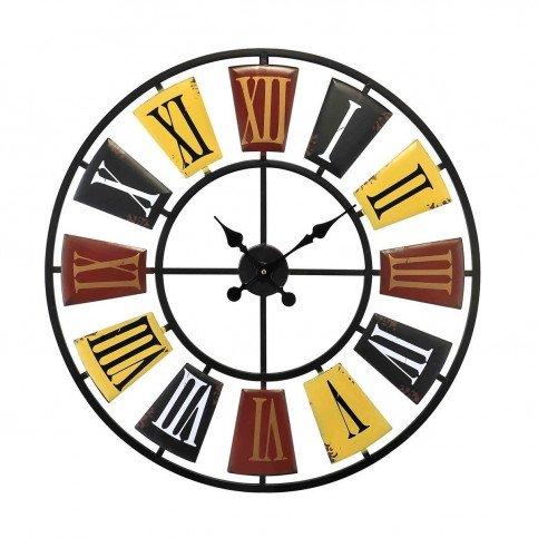 Horloge Colorée Ajourée   www.cosy-home-design.fr
