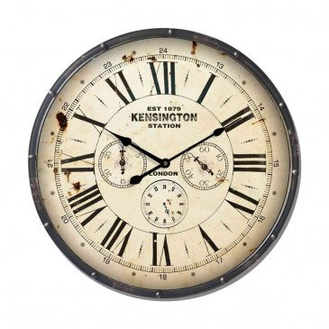 Horloge Métal Ondulé Foncé | www.cosy-home-design.fr
