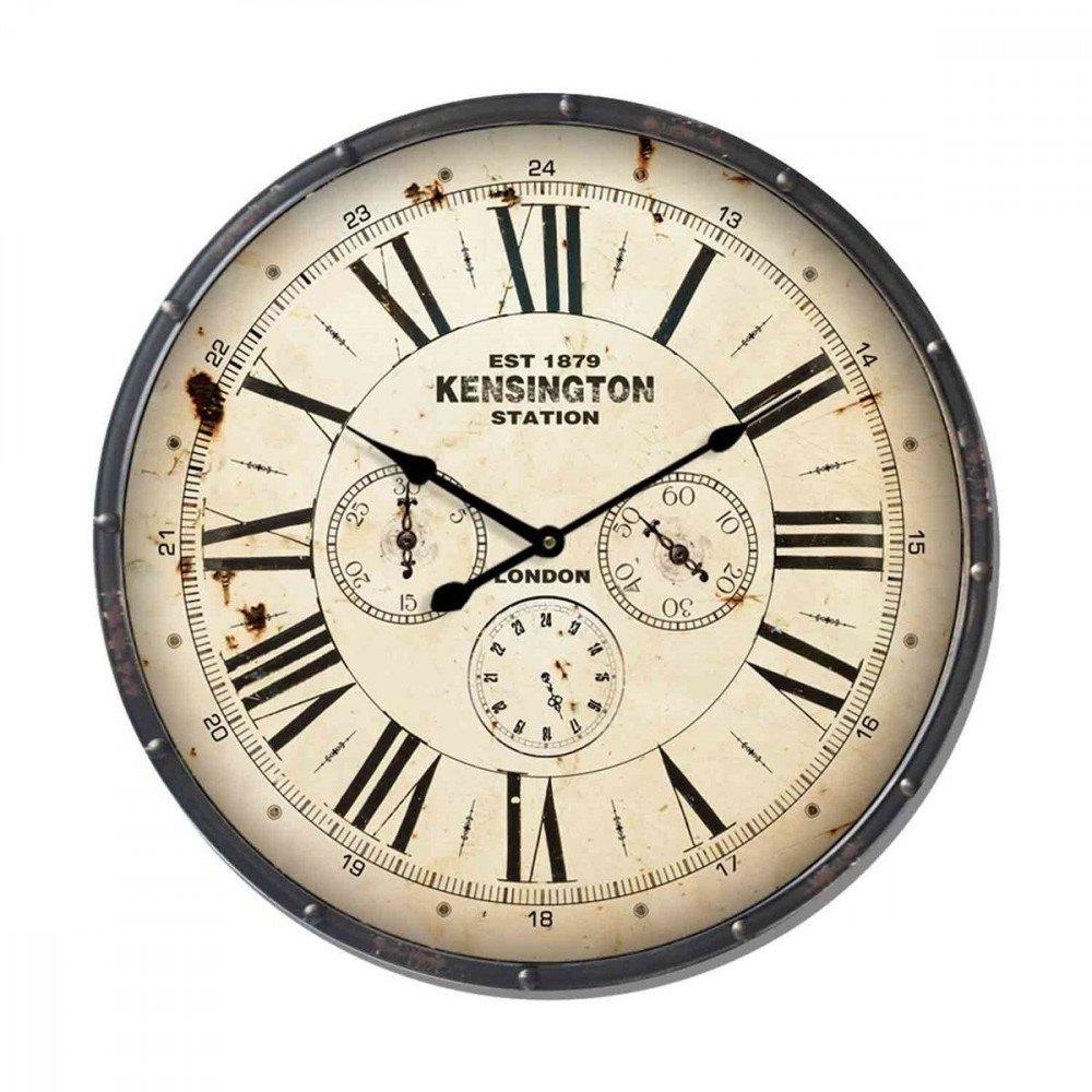 Horloge Métal Ondulé Foncé   www.cosy-home-design.fr